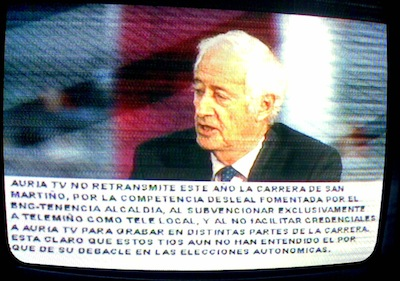 Cartel en Auria TV