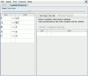 Conversion JFLAP a forma normal Chomsky