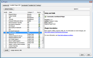 ruby and rails plugin netbeans