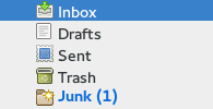 spam in junk folder